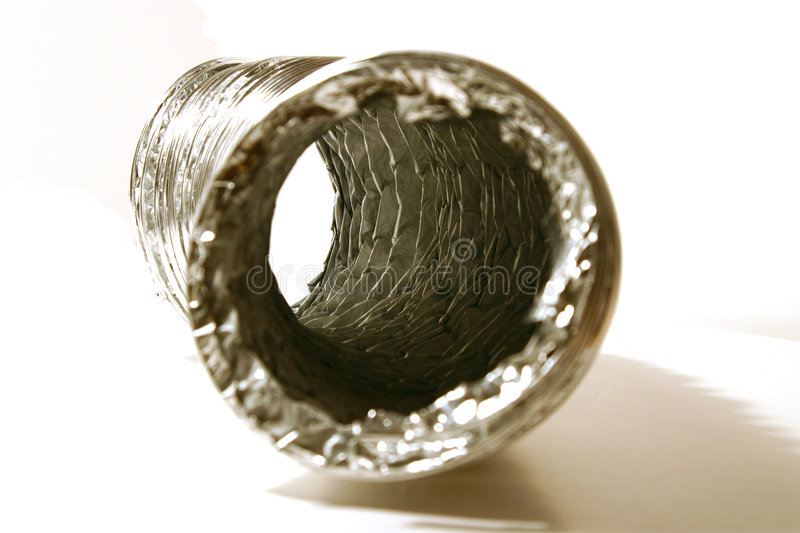 Isolated Dryer Vent Hose stock photography