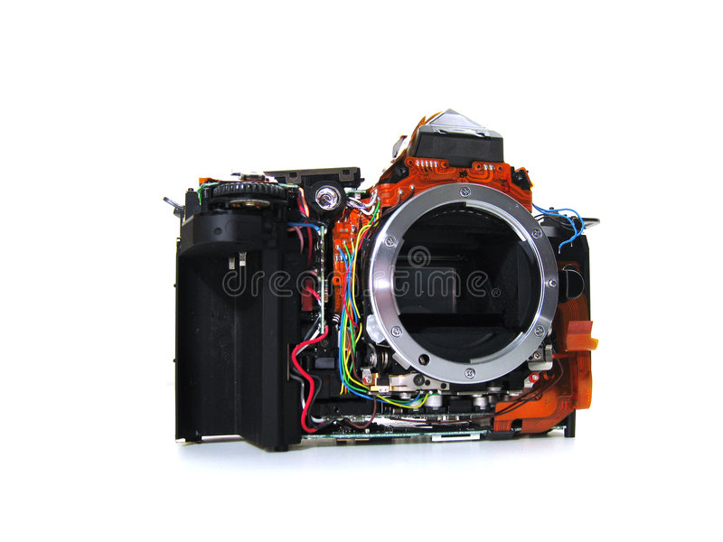 Download Isolated DSLR Sectional View Stock Photo - Image: 9096808