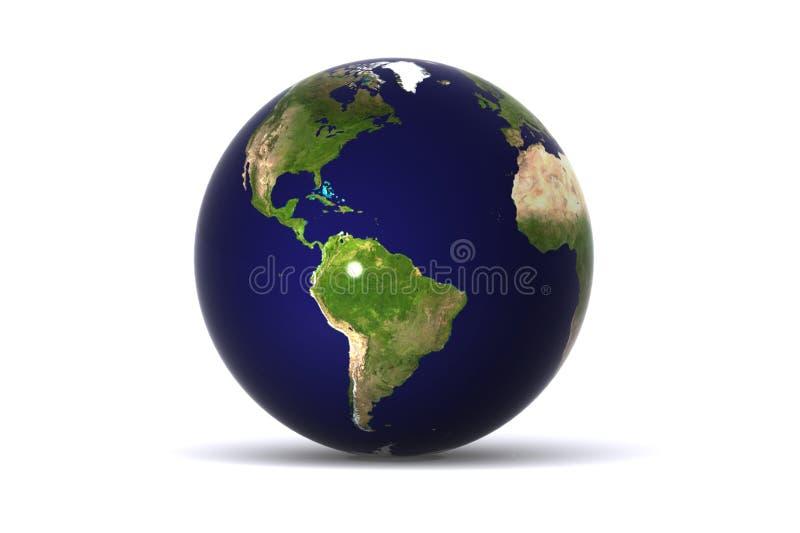 Isolated Earth (america) stock illustration