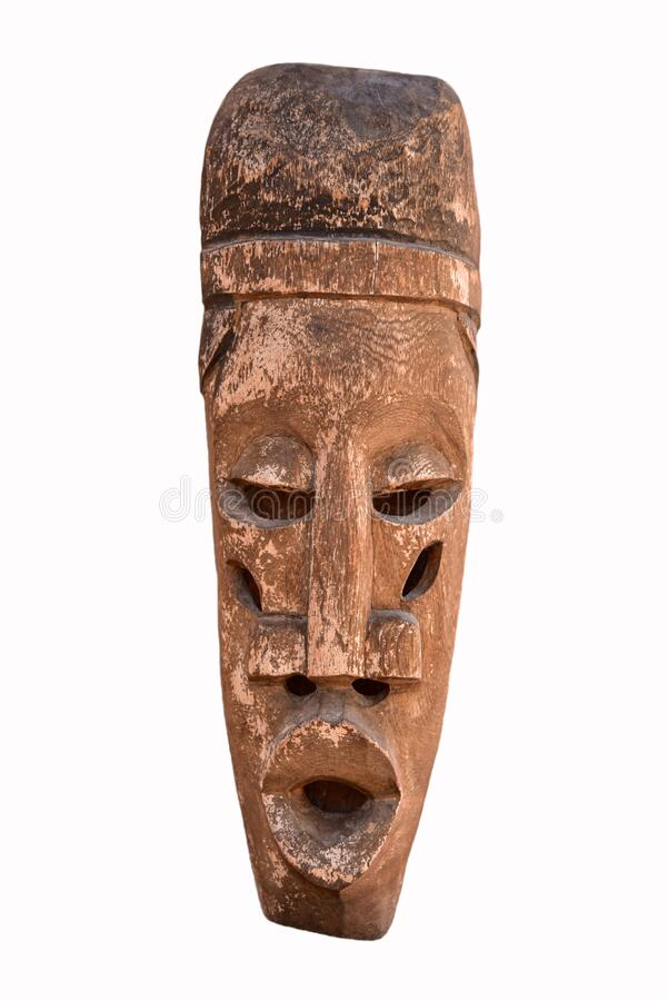 Free Isolated Egyptian Head Wood Sculpture Royalty Free Stock Photography - 181510827