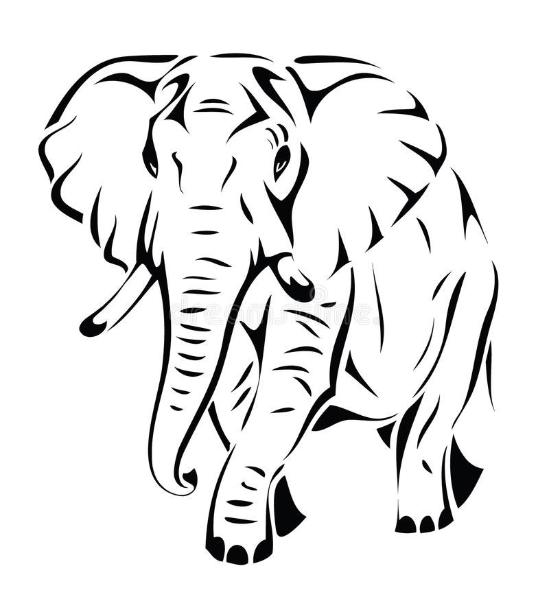 Download Isolated elephant stock vector. Image of side, animal - 26655276