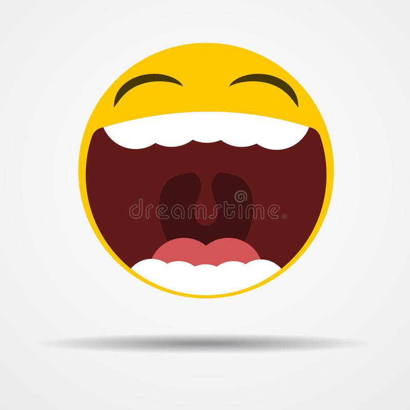 Isolated Emoji laughing out loud in a flat design vector illustration