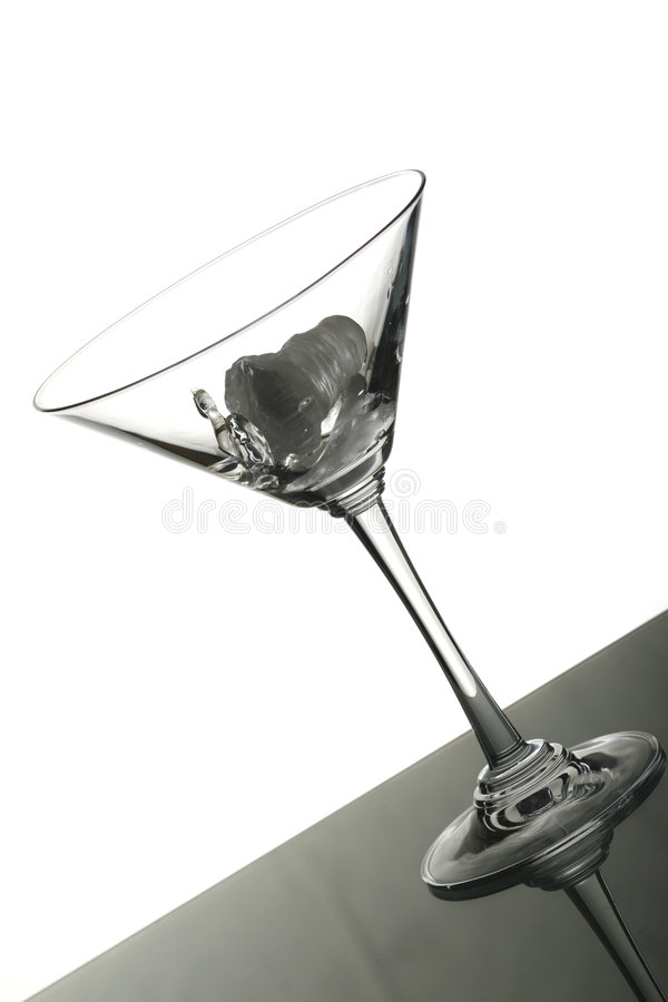 Isolated empty martini glass royalty free stock image