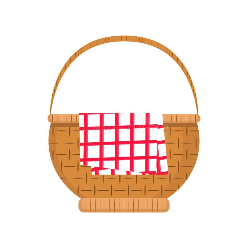 Empty picnic basket icon stock illustration