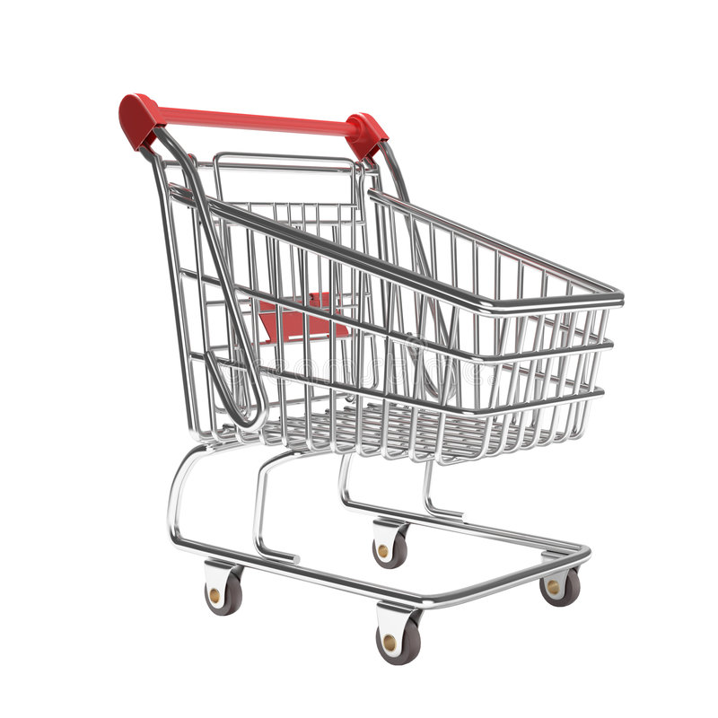 Download Isolated Empty Shopping Cart Stock Image - Image: 8982127