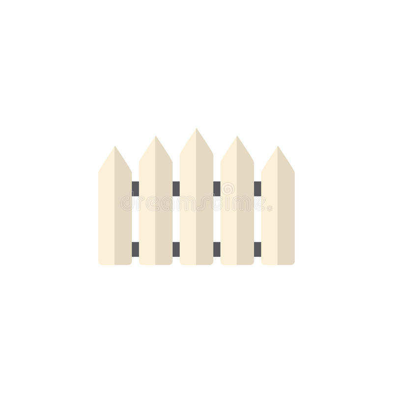 Isolated Fence Flat Icon. Wooden Barrier Vector Element Can Be Used For Fence, Wooden, Barrier Design Concept. royalty free illustration