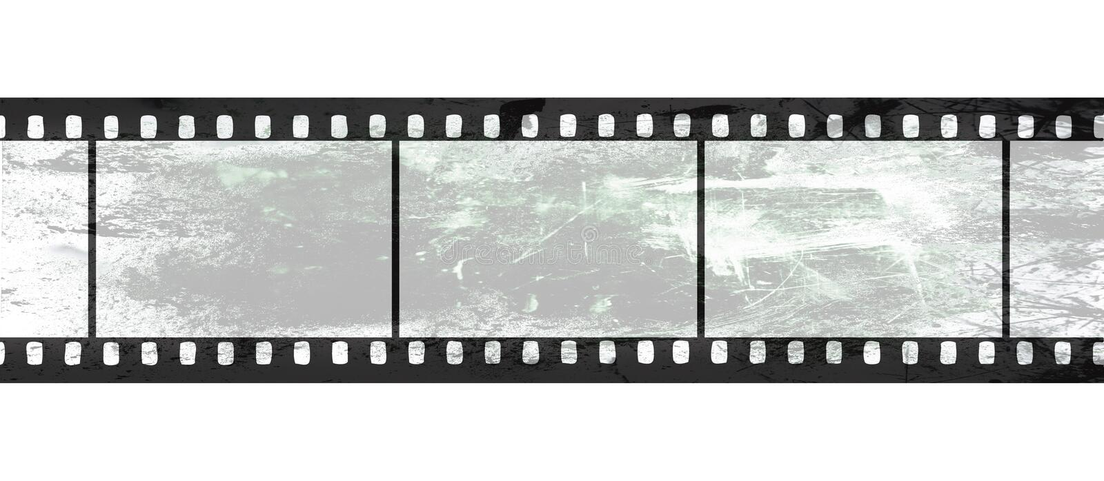 Isolated film negative on white background royalty free illustration