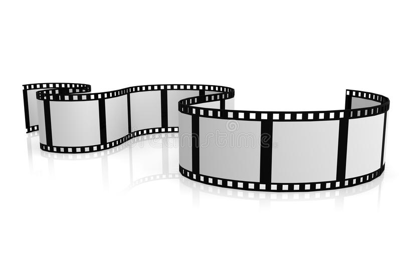 Isolated film with white background stock illustration