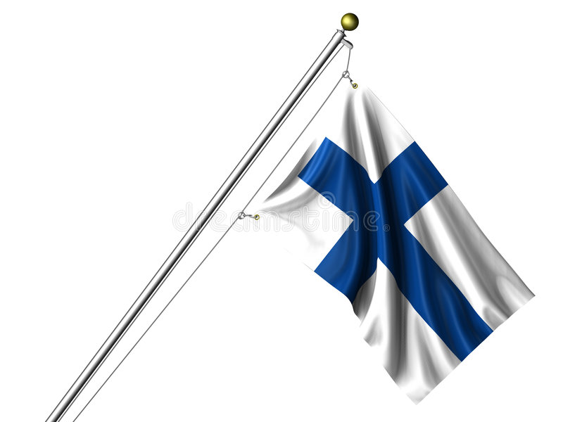 Isolated Finnish Flag vector illustration