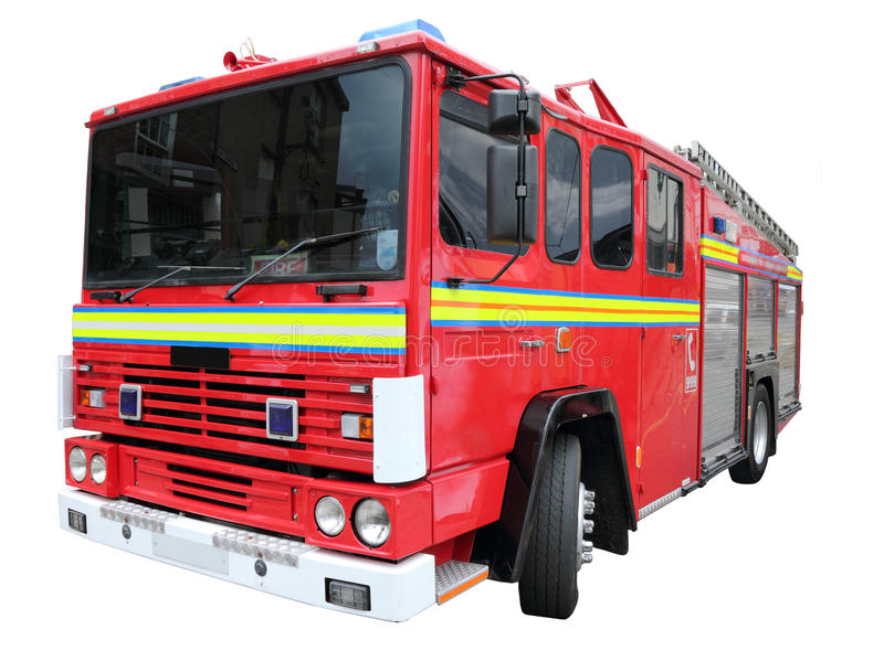 Isolated Fire Engine Stock Photos