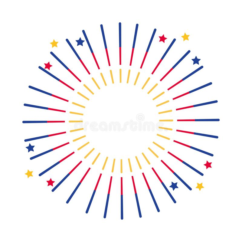 Isolated firework symbol design vector illustration. Firework design, Celebration festival event holiday party anniversary and explosion theme Vector royalty free illustration