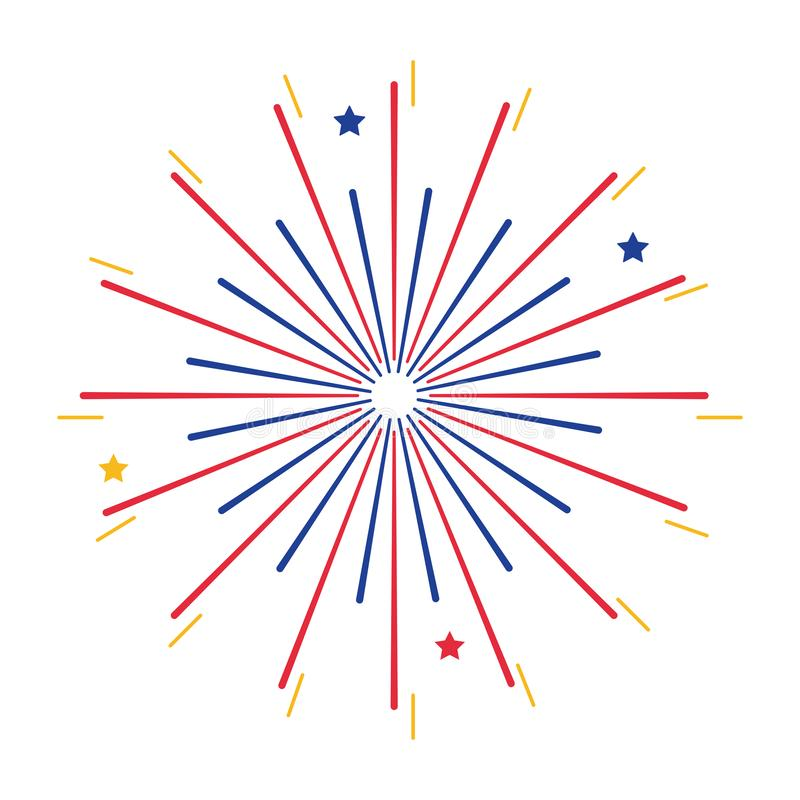 Isolated firework symbol design vector illustration. Firework design, Celebration festival event holiday party anniversary and explosion theme Vector stock illustration