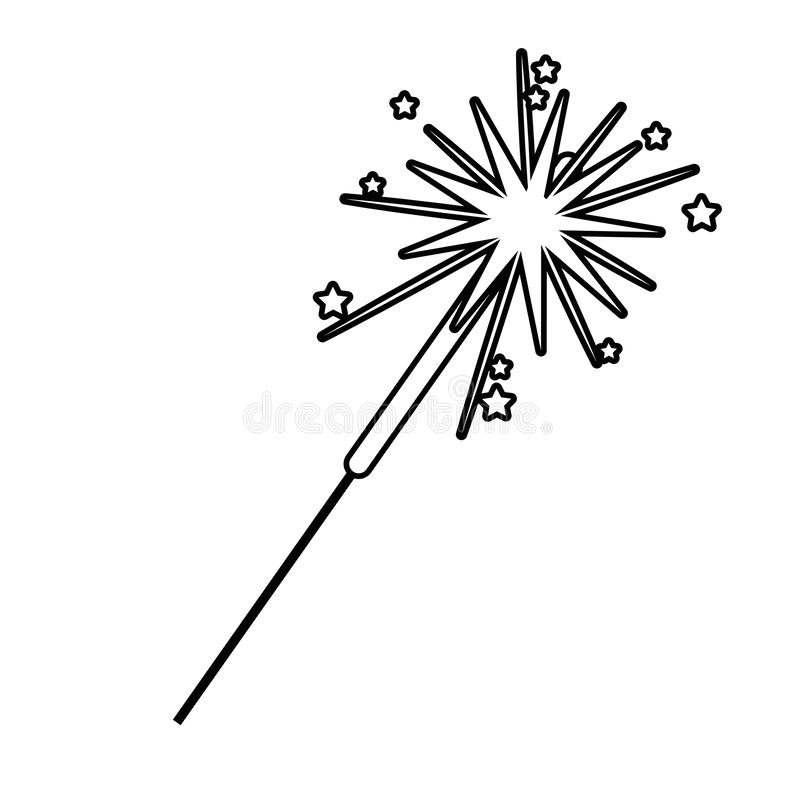 Isolated firework symbol design vector illustrator. Firework design, Celebration festival event holiday party anniversary and explosion theme Vector illustration vector illustration