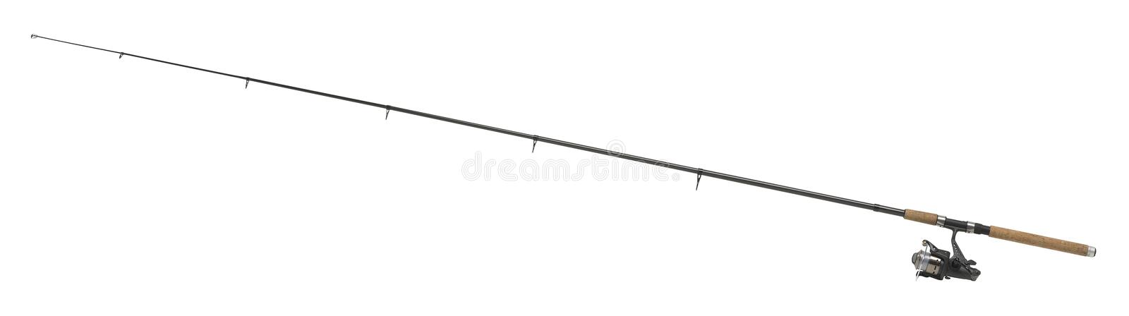 Isolated fishing pole. In white back royalty free stock images