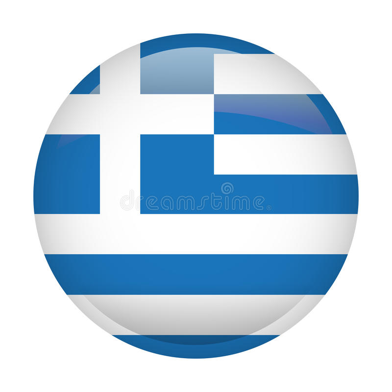 Isolated flag of Greece stock illustration