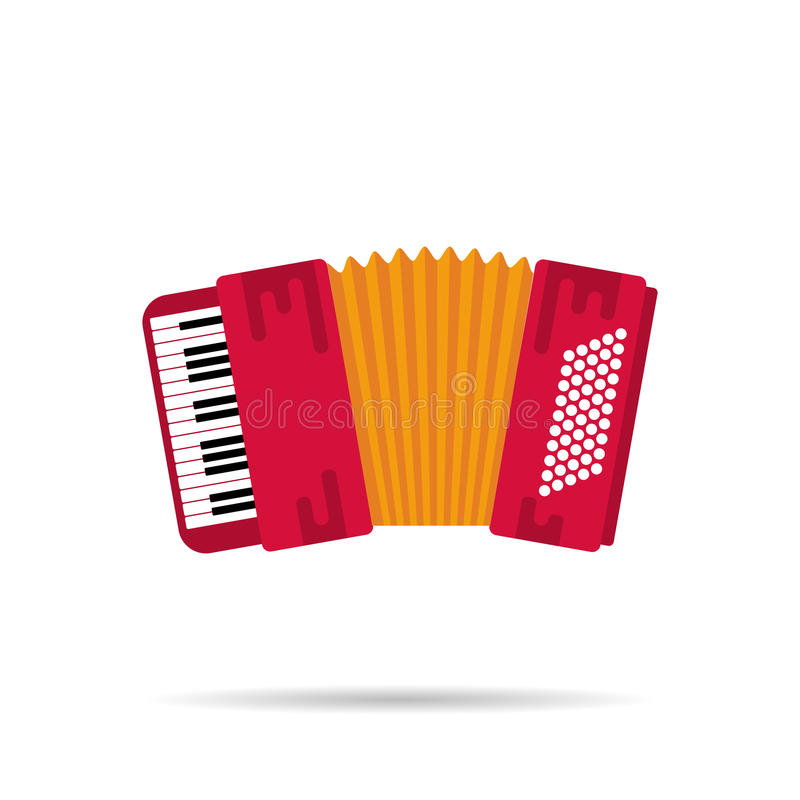 Isolated flat icon of the accordion stock illustration