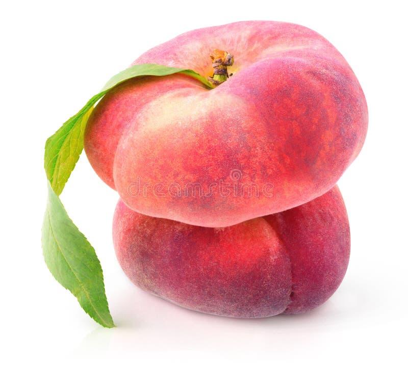 Isolated flat peaches royalty free stock photos