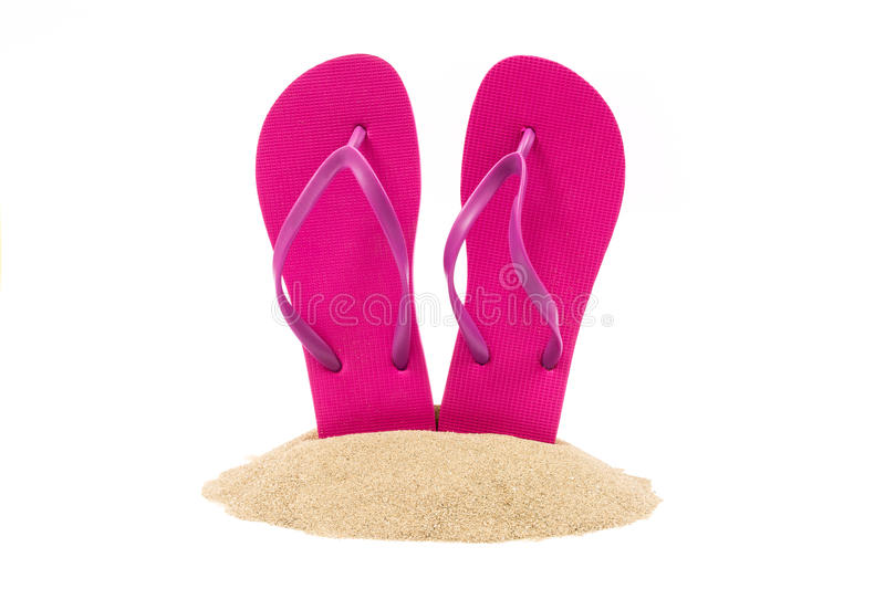 Isolated flip flops on. White background royalty free stock photography