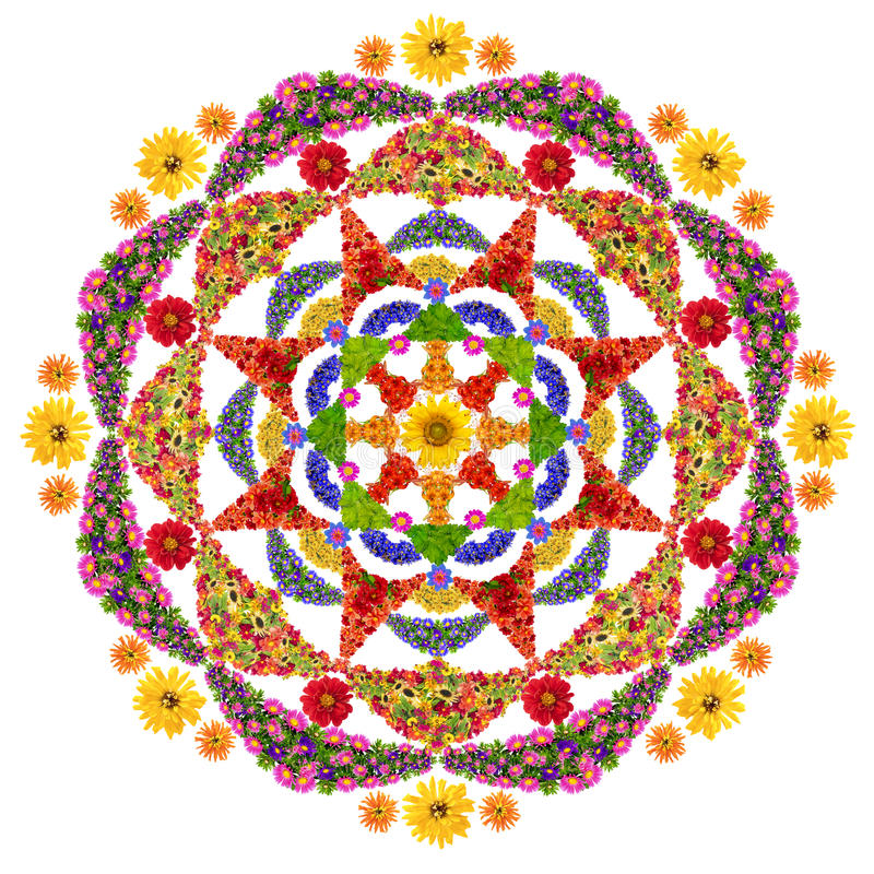 Isolated Floral Happiness Mandala Stock Image Image Of Abstract