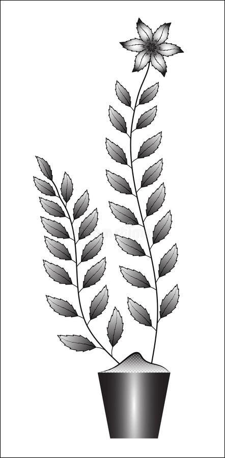 Isolated flower illustration stock photos