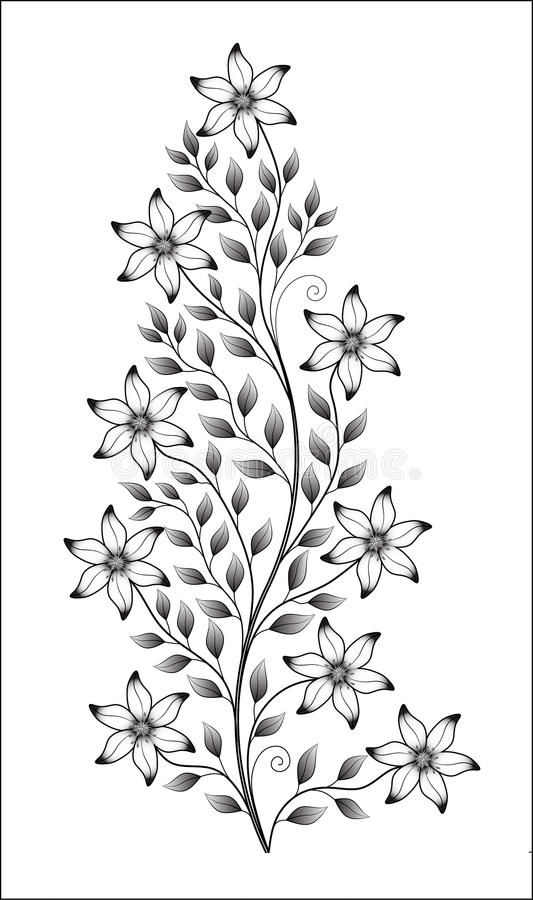 Isolated flower illustration royalty free stock photography