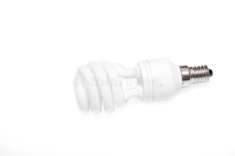 Isolated fluorescent lamp on a white background. See my other works in portfolio royalty free stock photo