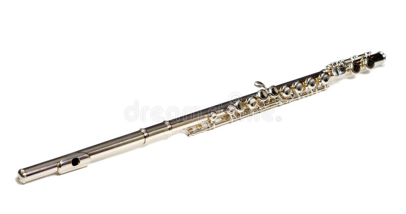 Download Isolated Flute stock photo. Image of flute, music, silver - 11199808
