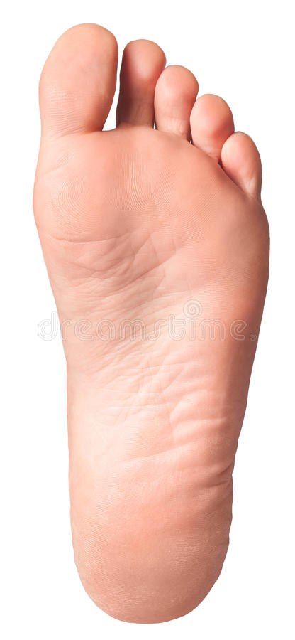 Isolated Foot Sole royalty free stock photos