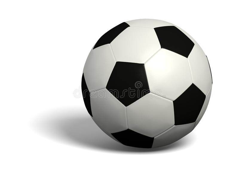 Isolated Football with soft shadow stock photos