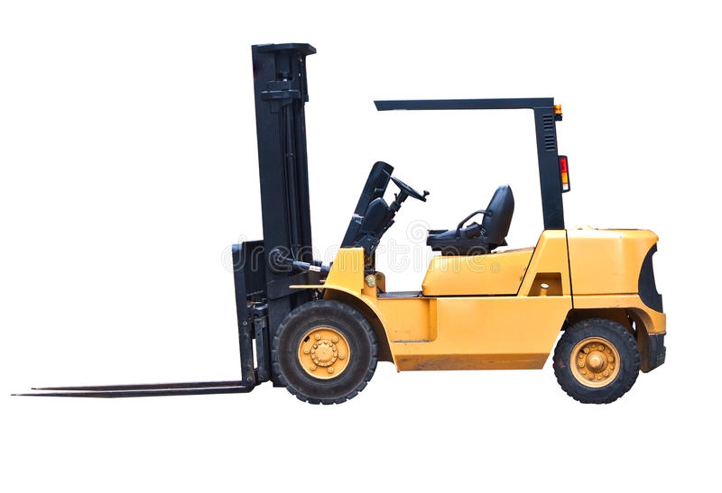 Download Isolated Fork Lift Truck stock photo. Image of machine - 15902722