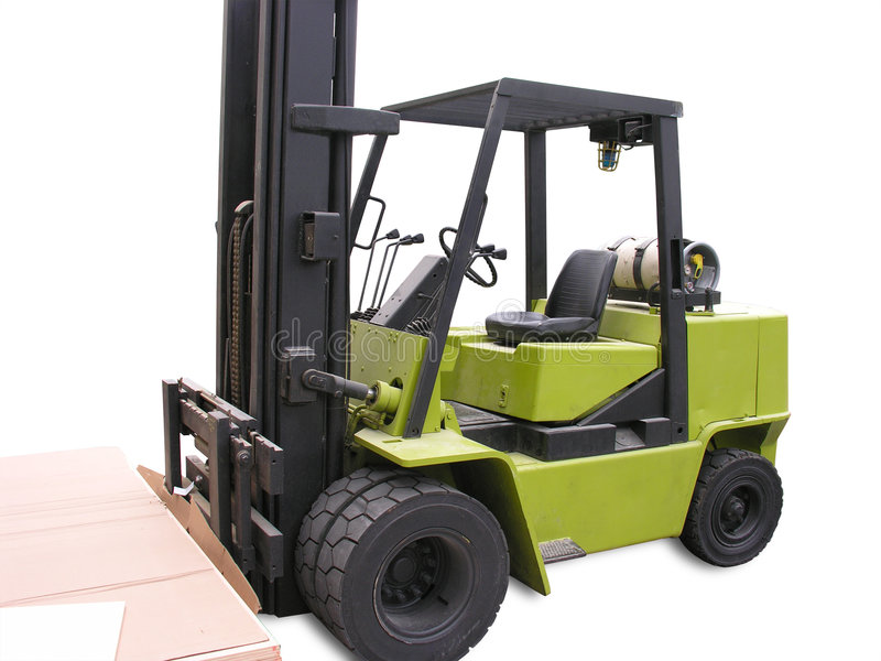 Isolated Forklift royalty free stock photos