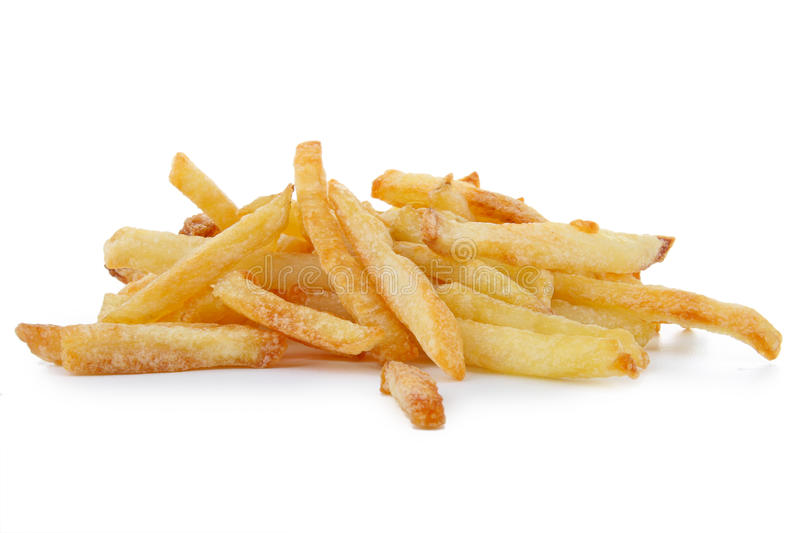 Isolated French Fries Stock Photo