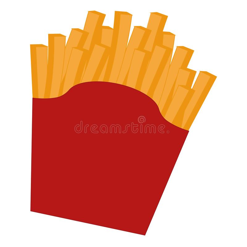 Isolated french fries image. Over a white background - Vector royalty free illustration