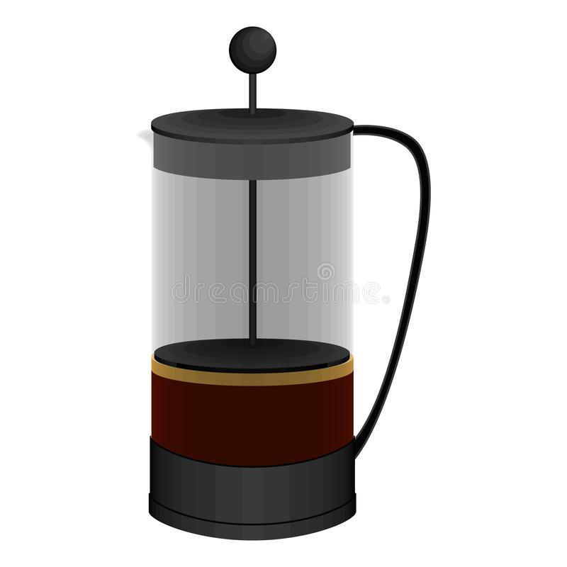 Isolated french press coffee maker image. Vector stock illustration