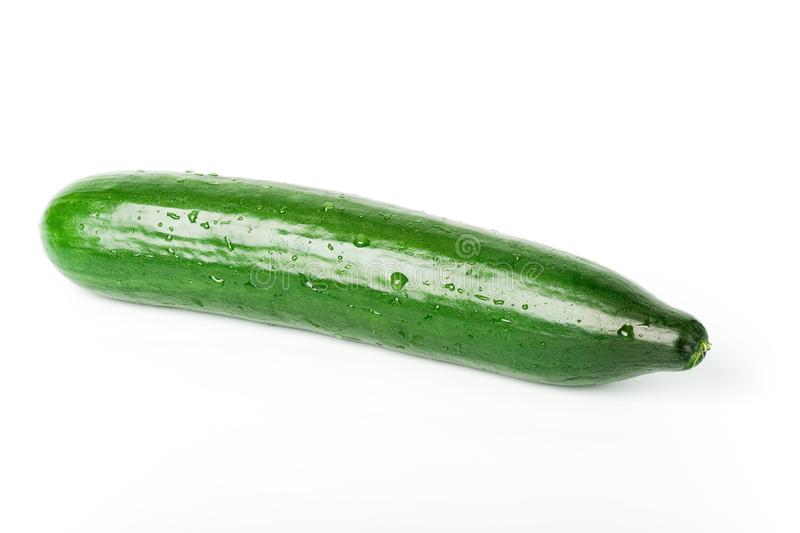 Isolated fresh cucumber royalty free stock images