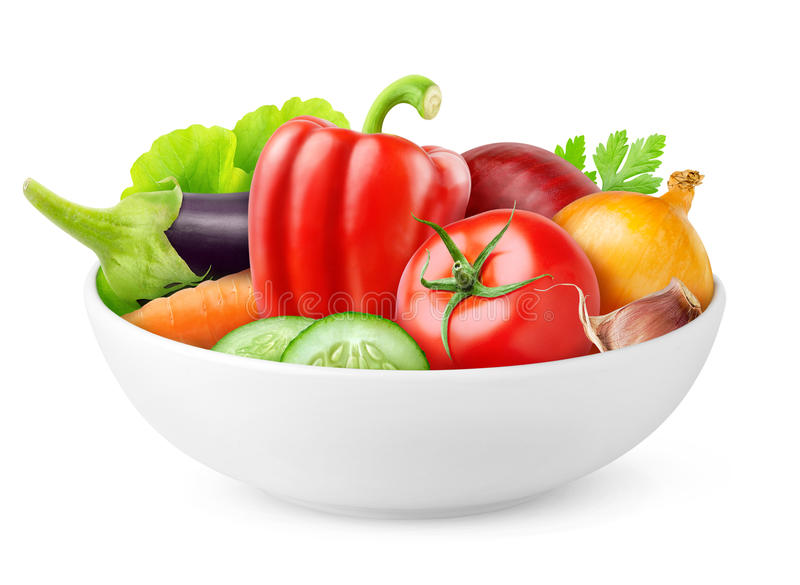 Isolated fresh vegetables stock image