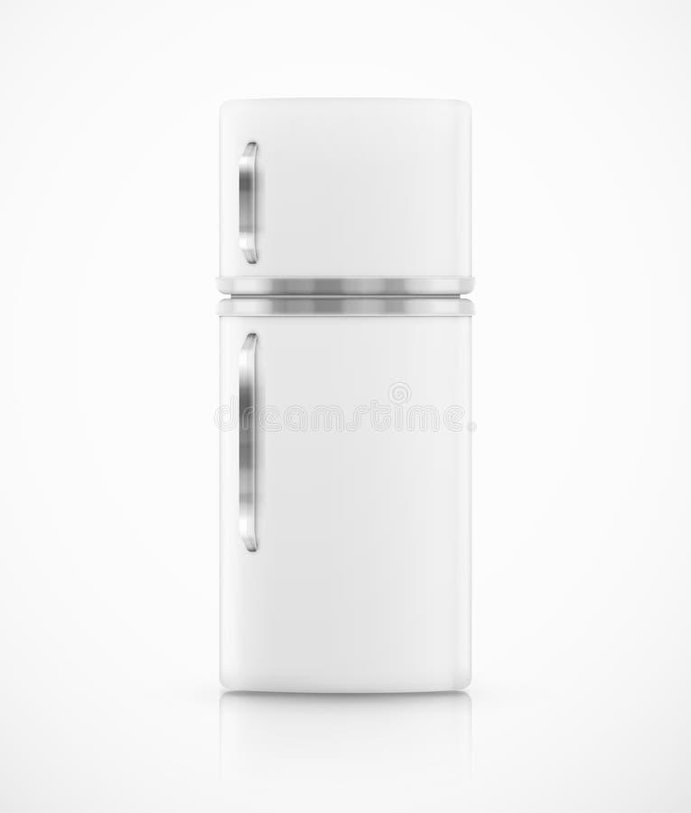 Isolated fridge. Isolated white fridge, eps 10 royalty free illustration