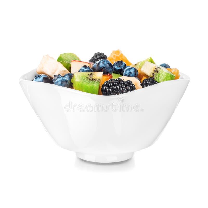 Isolated fruit salad royalty free stock photo