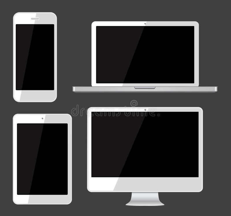 Download Isolated gadgets stock vector. Image of computer, cell - 38310736