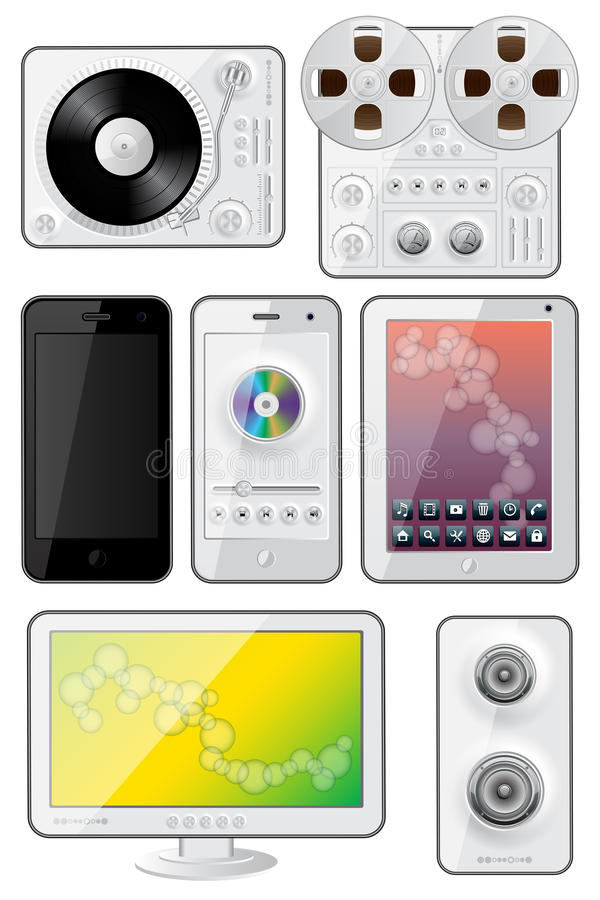 Download Isolated Gadgets Icons Royalty Free Stock Photography - Image: 26117867