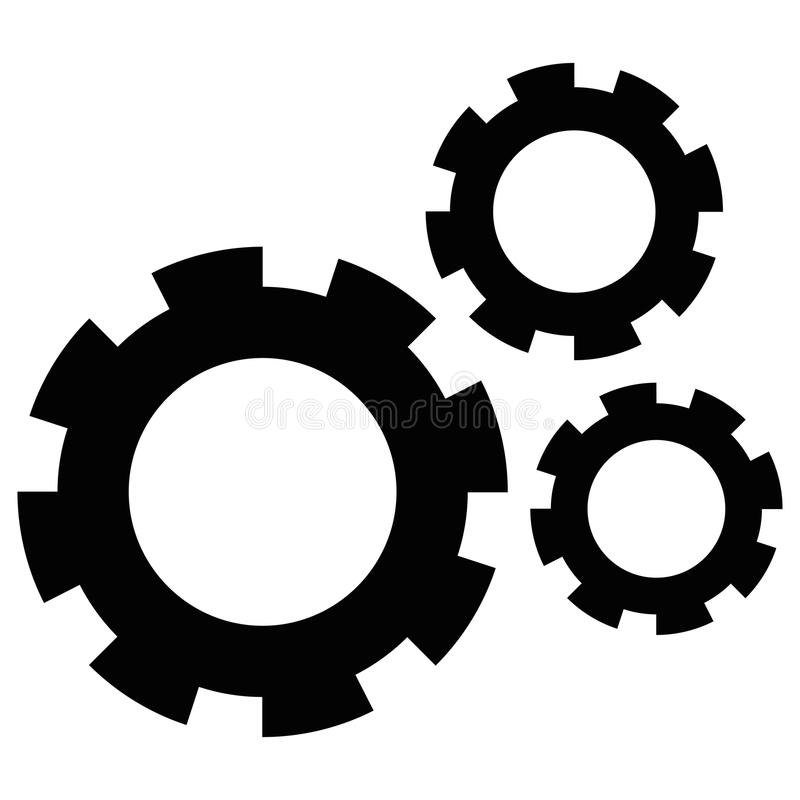 Isolated gear icon vector illustration