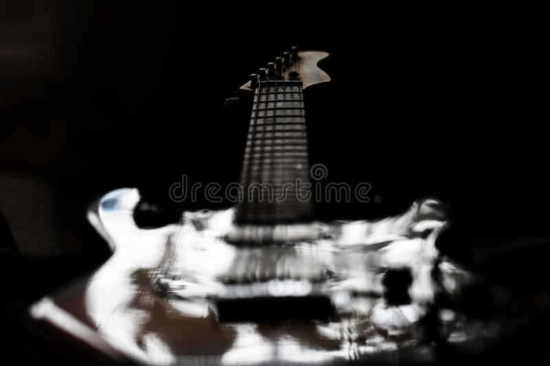 Isolated ghost electric guitar rock stock photo