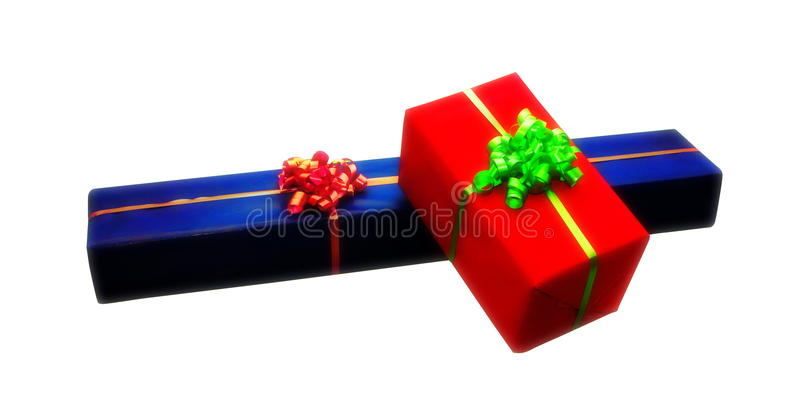 Isolated giftboxes stock photo
