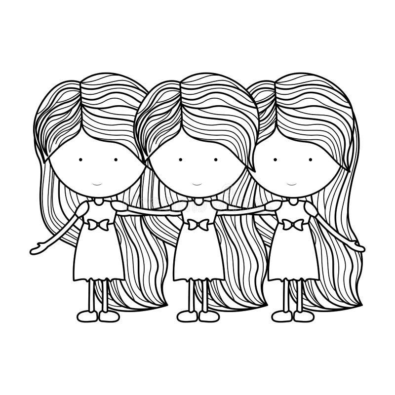 Isolated girl cartoon design. Girl cartoon icon. Kid childhood little and people theme. Isolated design. Vector illustration stock illustration