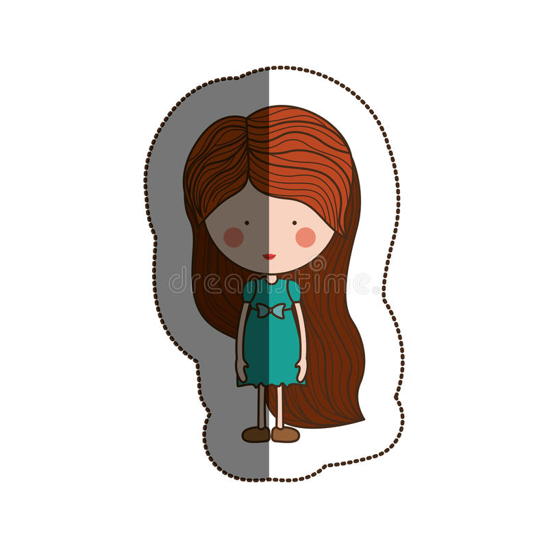 Isolated girl cartoon design. Girl cartoon icon. Kid childhood little and people theme. Isolated design. Vector illustration vector illustration