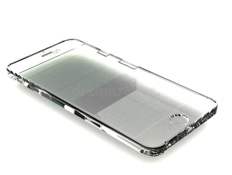 Transparent phone on white royalty free stock image