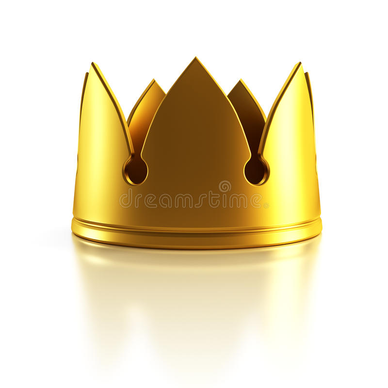 Isolated Golden Crown Royalty Free Stock Image