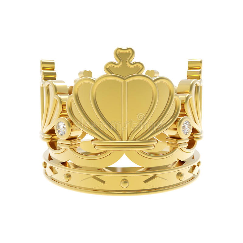 Isolated golden crown royalty free stock images