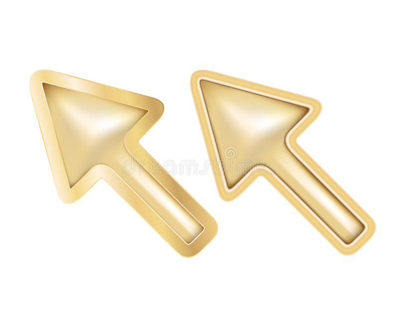 Download Isolated golden cursors stock vector. Illustration of mesh - 26398857