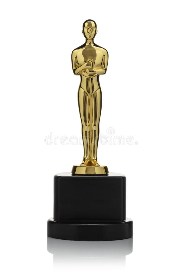 Free Isolated Golden Statuette Stock Photography - 59129272